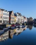 Construções velhas em Ghent durante o dia Imagem de Stock Royalty Free