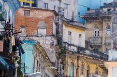 Construções velhas em Havana, Cuba Imagem de Stock