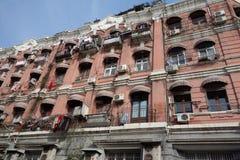 Construções velhas em Shanghai foto de stock