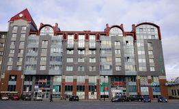 Construções velhas em Vyborg, Rússia Imagens de Stock