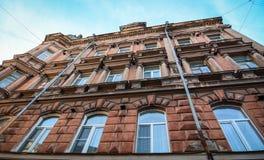 Construções velhas situadas em Vyborg, Rússia Imagem de Stock Royalty Free