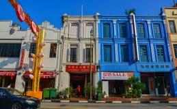 Construções velhas situadas no bairro chinês foto de stock royalty free
