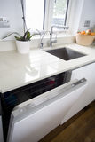 Construído na máquina de lavar louça Fotografia de Stock Royalty Free