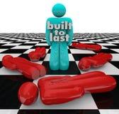 Construído para durar Person Standing Winner Strong Determination ilustração do vetor
