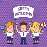 Constru??o do verde do texto da escrita Conceito que significa uma estrutura que seja o pessoa sustentável ambientalmente respons ilustração royalty free
