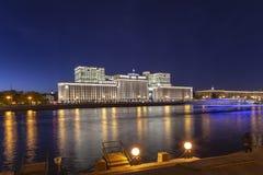 Constru??o principal do minist?rio de defesa da Federa??o Russa Minoboron e do rio de Moskva Moscovo, R?ssia fotografia de stock royalty free