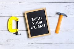 Construa seus sonhos Imagem de Stock Royalty Free