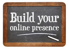 Construa sua presença em linha imagens de stock royalty free