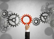 Construa um sistema empresarial Foto de Stock