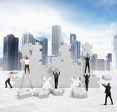 Construa uma empresa nova Foto de Stock
