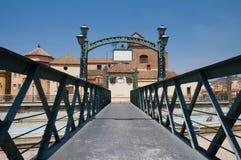 Construa uma ponte sobre Puente de Santo Domingo em Malaga, a Andaluzia Fotografia de Stock