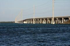 Construa uma ponte sobre a vista de uma entrada nas chaves de Florida Imagem de Stock Royalty Free