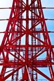 Construcción abstracta roja del metal Fotografía de archivo libre de regalías