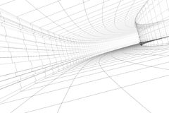 Construcción arquitectónica abstracta Imagen de archivo
