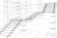 Construcción arquitectónica abstracta ilustración del vector