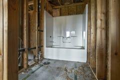 Construcción casera 2 del cuarto de baño Foto de archivo libre de regalías
