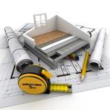 Construcción casera técnica stock de ilustración