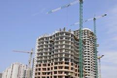 Construcción. Comunidad residencial Foto de archivo