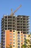 Construcción con la grúa Foto de archivo