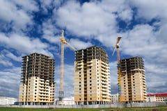 Construcción de 3 edificios Fotografía de archivo libre de regalías