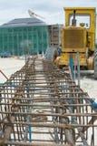 Construcción de acero Imagen de archivo libre de regalías