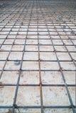 Construcción de acero de la malla foto de archivo