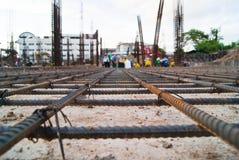 Construcción de acero de la malla fotos de archivo