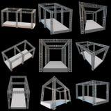 Construcción de acero del tejado de la viga del braguero stock de ilustración