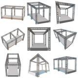 Construcción de acero del tejado de la viga del braguero ilustración del vector