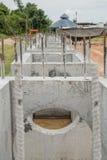 Construcción de alcantarillas Imagenes de archivo