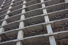 Construcción de ascendente incompleto, cercano Foto de archivo