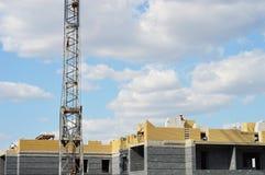 Construcción de BU residenciales imagen de archivo libre de regalías