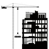 Construcción de BU residenciales ilustración del vector