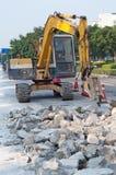 Construcción de carreteras Fotografía de archivo libre de regalías