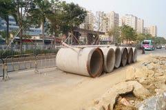 Construcción de carreteras Imagenes de archivo
