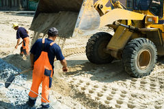 Construcción de carreteras. Imagen de archivo libre de regalías