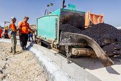 Construcción de carreteras Asphalt Spreader Foto de archivo