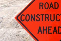 Construcción de carreteras a continuación Imagen de archivo