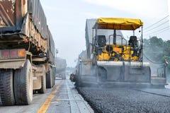 Construcción de carreteras en Tailandia foto de archivo