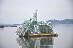 Construcción de cristal Oslo Imagenes de archivo