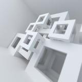 Construcción de edificios blanca de la arquitectura abstracta Imagenes de archivo