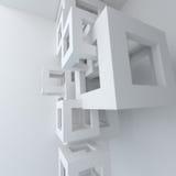 Construcción de edificios blanca de la arquitectura abstracta Fotografía de archivo libre de regalías