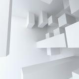 Construcción de edificios blanca de la geometría abstracta Imagenes de archivo