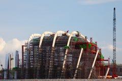 Construcción de edificios de Singapur Fotografía de archivo libre de regalías