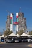 Construcción de edificios en Abu Dhabi Fotografía de archivo libre de regalías