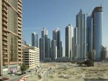 Construcción de edificios en Dubai fotos de archivo