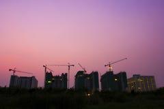 Construcción de edificios en el capital Fotos de archivo