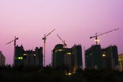 Construcción de edificios en el capital Foto de archivo libre de regalías