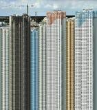 Construcción de edificios grandes Fotografía de archivo