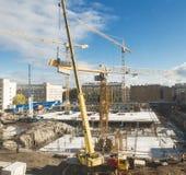 Construcción de edificios moderna Foto de archivo libre de regalías